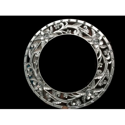 Embrasse ring zilver rond